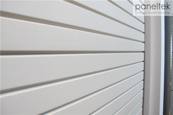 Ventilated Facade Exterior Wall Cladding Panels Grooved Shape Terracotta Panels