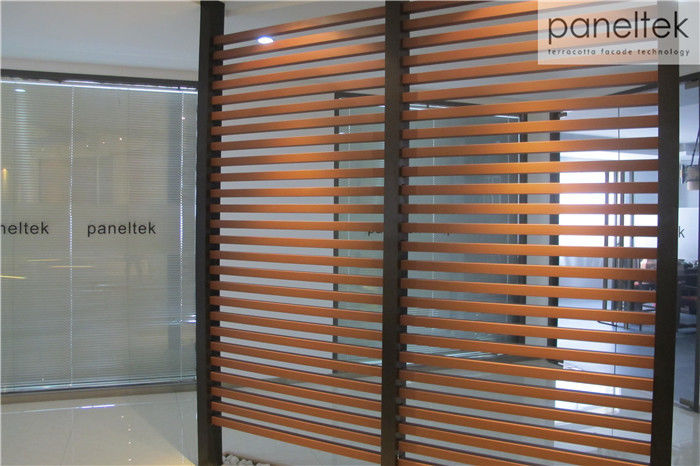 Natural Flat Finish Terracotta Baguette Louver For Ventilated Facade System