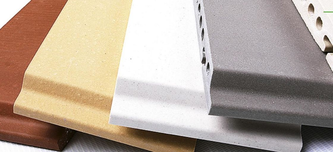 Architectural Terracotta Panels / Flame Retardant Exterior Building Cladding Panels